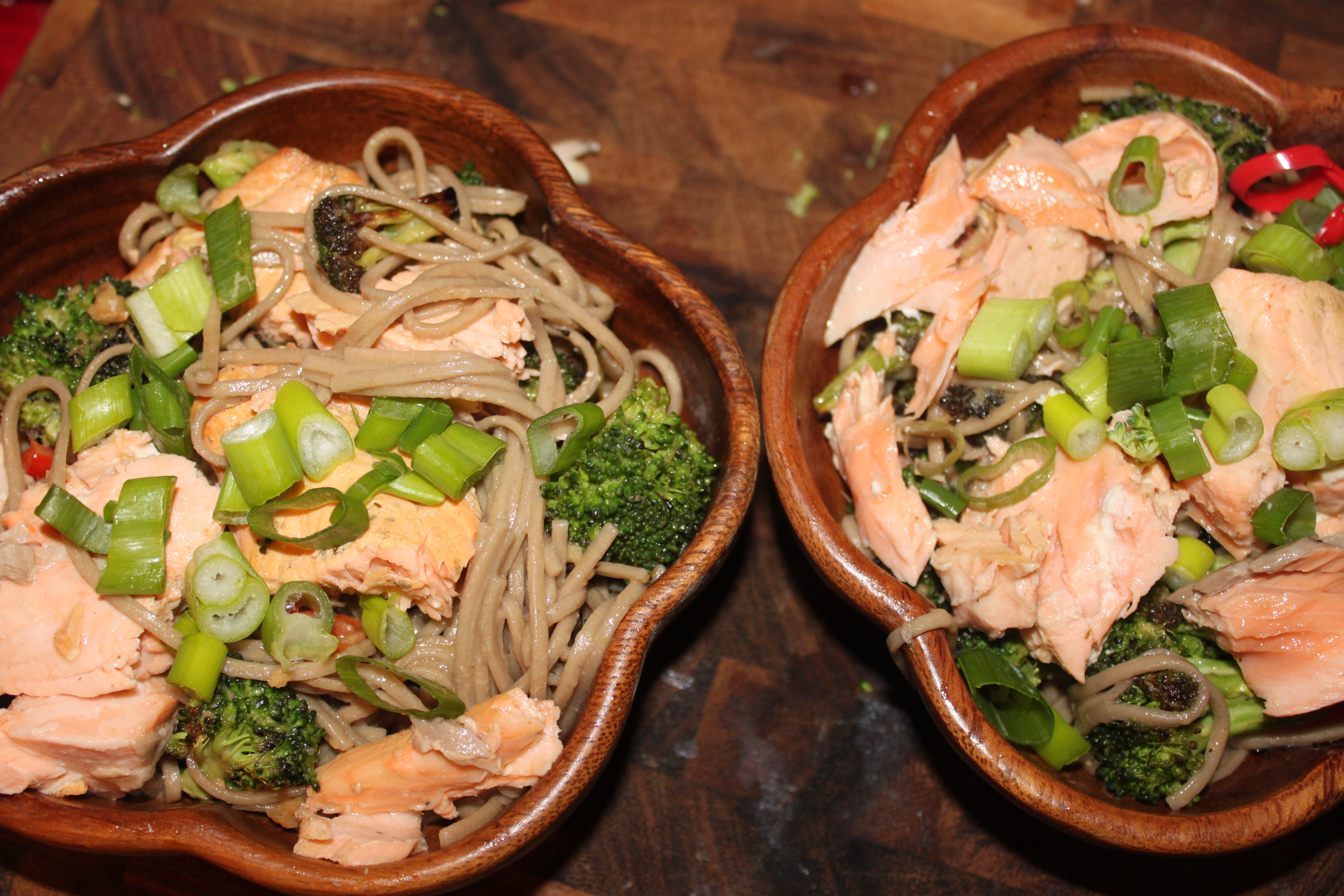 Soba Bowls With Tea-Poached Salmon Recipe — Dishmaps
