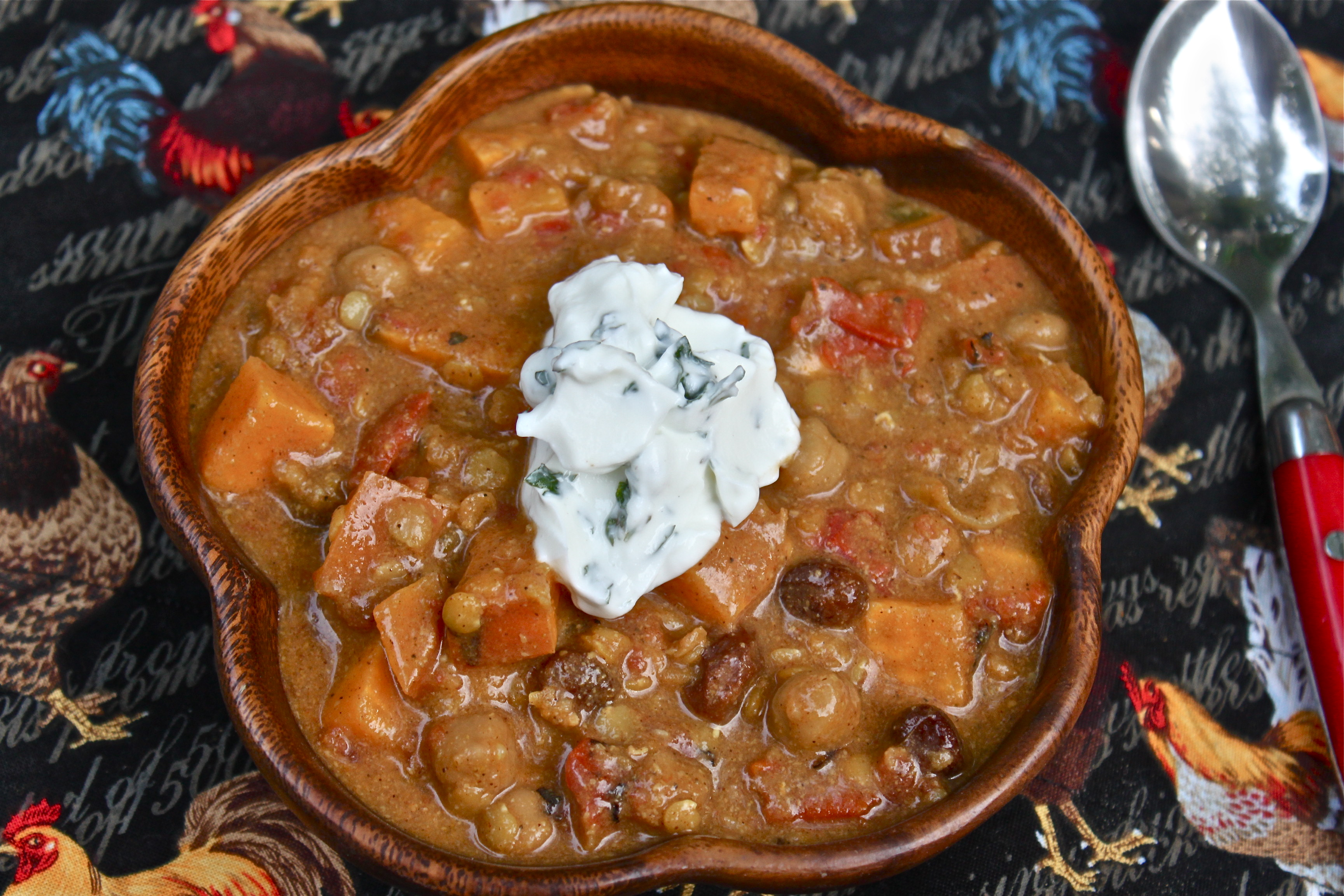 Spicy Sweet Potato, Chickpea & Peanut Stew (Vegan and Crock Pot ...